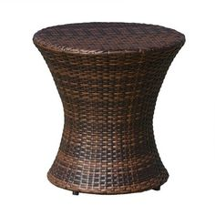 Stupefying Tips: Wicker Makeover Patio wicker rattan vintage.Wicker Rattan Vintage wicker kitchen home. Round Wicker Chair, Wicker Side Table, Patio Side Table, Glass Side Tables, Wicker Sofa, Solid Wood Dining Table, Wicker Furniture, Wicker Trunk, Furniture Ideas