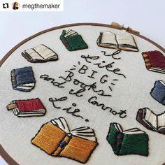Word(s) #regram @megthemaker indeed. . . #megthemaker #embroidery #handembroidery #handmade #stitched #handstitched #handmadeisbetter #supporthandmade #books #bibliophile #booklover #bookworm #embroideryart #booknerd #ilikebigbooksandicannotlie #bookishaccessories #hoopla #creativityfound #mrxstitch via The Mr X Stitch official Instagram Share your stitchy 'grams with us - @mrxstitch #xstitchersofinstagram #mrxstitch