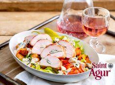 Saint Agur auf Süßkartoffelsalat   LECKER