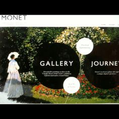 Graphic intensive multi-media experience of Monet's gallery at Monet2010.com