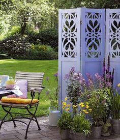 New Sichtschutz Ideen aus Stein Geflecht Holz und Stoff Paravent mit Wunsch Stoff Home At home and Garten