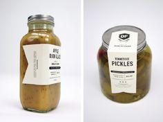 Pickle jar labels by Caroline Morris