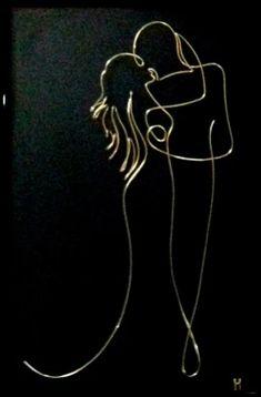 Copper Wire Art, Pinstripe Art, Wire Art Sculpture, Wire Flowers, Steel Art, Scrap Metal Art, Stencil, Happy Art, Wire Crafts