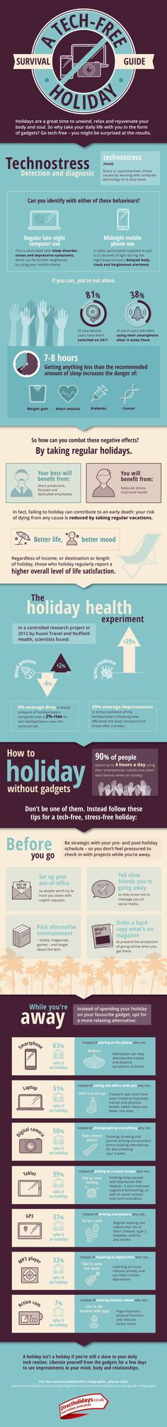 A Tech-Free Holiday Survival Guide #infographic