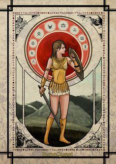 RuneQuest Art Nouveau by Jrusteli