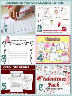Educational Valentine Activities for Kids  Whether you officially homeschool or just like to supplement what the school teaches your children, clip_image007[12]these fun Valentine's Day educational activities will keep your children learning and entertained for a few hours at least.