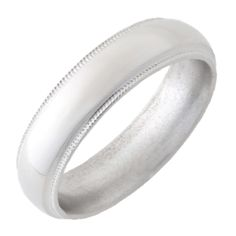 Titanium Domed Band with Grooved Miligrain Edges and Polish Finish Wedding Bands For Him, Wedding Rings, Jewelry Shop, Fine Jewelry, Pearl Gemstone, Custom Jewelry Design, Accessories Shop, Diamond Engagement Rings, How To Memorize Things