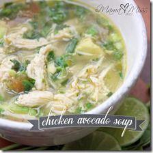 Chicken Avocado Soup #chicken #avocado