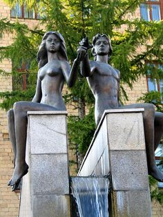 Adam and Eve (Valentin and Valentina). Krasnoyarsk. Russia. / Адам и Ева (Валентин и Валентина). Красноярск. Россия.
