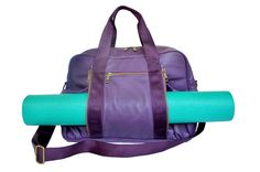 I NEED THIS! oGorgeous Crazy Zips Gym Bag in Plum $139.00