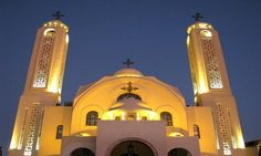 Egypt's Coptic Orthodox Church extends suspension of prayers, including Holy Week services, due to coronavirus Holy Week Prayer, Alexandria Egypt, Church Architecture, Cathedral Church, Mosque, Empire State Building, Catholic, Prayers, Religion