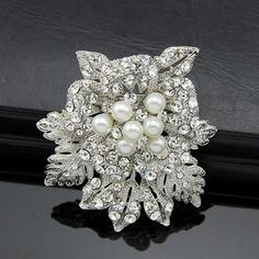 Find More Brooches Information about Hot sale!!New Large leaves Floral Gold Rhinestone Crystal Rose Flower And Faux Pearl Bridal Brooch 2015 Valentine's Day Gift,High Quality brooches purple,China gifts for men india Suppliers, Cheap gift dropshipper from Yiwu Chenhui Jewelry on Aliexpress.com