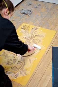Catherine Bertola's Unfurling Splendour (v) at Bilston Craft Gallery. #ActsofMaking. Photo:Sophie Mutevelian