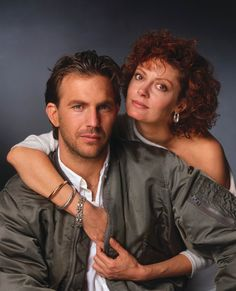 Kevin Costner | Susan Sarandon.  Bull Durham. Great , great movie.