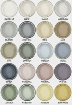 I am in love with these beautyful natural paint colours in pastel available at Byggmästaren in Sweden. They have incredible depth once they are dry. Wall Colors, House Colors, Paint Colours, Pastel Colour Palette, Pastel Colors, Color Inspiration, Interior Inspiration, Interior Paint Colors, Interior Design