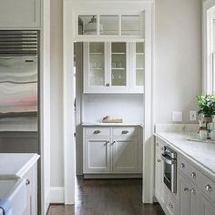 Walk In Pantry Doorway with Transom Window