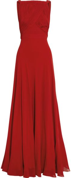 Saint Laurent Hand-pleated silk-georgette gown on shopstyle.com