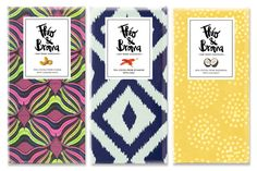 CHOCOLATE THÉO & BROMA #chocolate #packaging #pattern