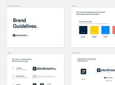 Stockroom.io Brand Guidelines by Soumya Ranjan Bishi . . Tag a designer you want us to feature next  . . Logo Inspiration @logospirations  Office setup inspiration: @minimaloffices  Typography inspiration: @typedrawn  #ui #dribbble #ux #design #webdesign #graphic #uidesign #userinterface #minimal #graphicdesignui #inspiration #interface #appdesign #digital #graphicdesignuiweb #app #graphicdesign #creative #webdesigner #userexperience #uxdesign #designinspiration #dribbblers #uxigers…