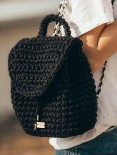 Handmade crochet bag Dm if you want Crochet Drawstring Bag, Crochet Backpack, Crochet Handbags, Crochet Purses, Crochet Case, Crochet Bathing Suits, Clutch Pattern, Knitted Bags, Crochet Fashion
