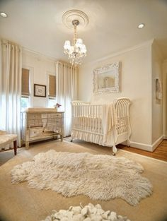 Love the mirrored dresser as changing table and still gender neutral