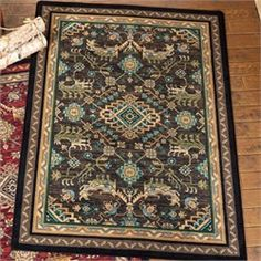 awesome Tribal Echoes Deepwoods Rug - 8 Ft. Round