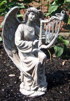 "Outdoor 17"" Stone R Saint Angel Cherub Garden Figurine Statue Harp Wind Chime by Needzo Religious Gifts, http://www.amazon.com/dp/B0087DWW4E/ref=cm_sw_r_pi_dp_r9Oorb1F30X2A"
