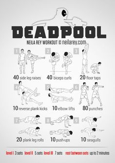 Yoga Fitness Flat Belly - Deadpool Workout Get Your Sexiest Body Ever! - There are many alternatives to get a flat stomach and among them are various yoga poses. Hero Workouts, Gym Workouts, At Home Workouts, Neila Rey Workout, Boxing Workout, Yoga Fitness, Health Fitness, Superhero Workout, Darebee