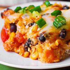 Black Bean and Butternut Squash Casserole - meatless and gluten-free dinner recipe! This Southwestern-style enchilada casserole is made with lots of vegetables and corn tortillas. I love making recipes with butternut squash in a casserole Gluten Free Recipes For Dinner, Veggie Recipes, Mexican Food Recipes, Whole Food Recipes, Cooking Recipes, Veggie Meals, Butternut Squash Enchiladas, Butternut Squash Casserole, Greenbean Casserole Recipe