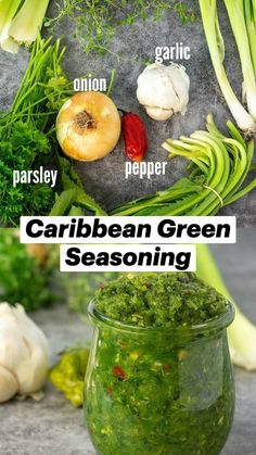 Guyanese Recipes, Jamaican Recipes, Carribean Food, Caribbean Recipes, Vegan Vegetarian, Vegetarian Recipes, Healthy Recipes, Dips, Bbq Seasoning