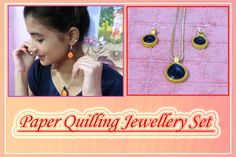 Gorgeous Quilling Jewellery Set (in Hindi) https://www.youtube.com/watch?v=d7gmpcptL84
