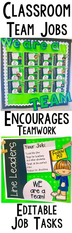 Classroom TEAM Jobs are the perfect way for your kids to understand the power of teamwork!