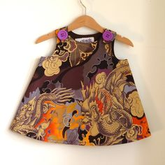 Tattoo Dragon orange and purple Infant or toddler by aprilscott, $36.00