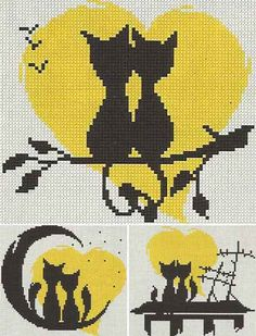 Awesome Most Popular Embroidery Patterns Ideas. Most Popular Embroidery Patterns Ideas. Cross Stitching, Cross Stitch Embroidery, Embroidery Patterns, Cross Stitch Patterns, Gato Crochet, Crochet Cross, Fair Isle Knitting Patterns, Sewing Art, Tapestry Crochet