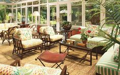 Garden Rooms : Interiors + Inspiration : Architectural Digest    AHH so cute, pool house?