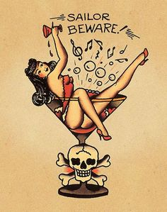 Old school tattoos- I would change it to Buddy Beware just to reference Anything Goes! :-P