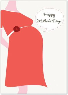 Prenatal Message - Mother's Day Greeting Cards in White | Magnolia Press