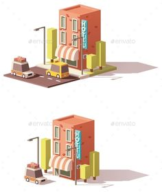 Buy Vector Low Poly Hotel Icon by on GraphicRiver. Vector low poly hotel icon, taxicab and car loaded with suitcases Low Poly Car, Cube World, Polygon Art, Isometric Art, Game Interface, Christmas Design, Illustrations And Posters, Game Design, Pixel Art