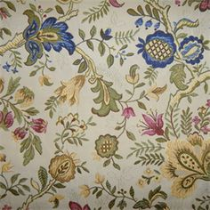 R Giorgio Classic Floral Upholstery Fabric