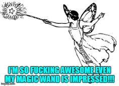 I'm so fucking awesome even my magic wand is impressed!!!