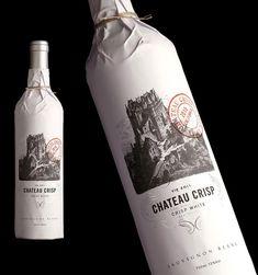 chateau crisp wine packaging.  design credit, stranger & stranger.  http://www.strangerandstranger.com