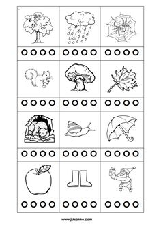 Woordstukjes - Kleur net zoveel rondjes als er woordstukjes zijn [jufsanne.com] Worksheets For Kids, Activities For Kids, Conscience, Reggio Emilia, Speech Therapy, Spelling, Color Mixing, Free Printables, Coloring Pages