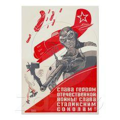 USSR CCCP Cold War Soviet Union Propaganda Posters from Zazzle.com