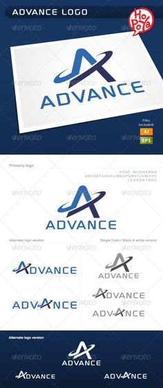 Advance - Logo Design Template Vector #logotype Download it here: http://graphicriver.net/item/advance-logo/1644074?s_rank=17?ref=nesto