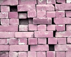 Lilac Bricks Photograph Pink Purple Girly Home Decor 10x8 print Build Me A Castle... by VictoriaEnglishCharm on Etsy