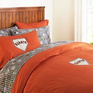 SF Giants bedding - Kate if you could handle this in your bedroom Tim would probably love lol!!