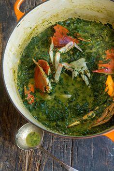 Callaloo Stew with Chesapeake Bay Blue Crab