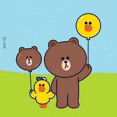 How Sally and Brown had their relaxing weekend! Cony Brown, Brown Bear, Sally Brown, Brown Line, Line Friends, Line Sticker, Cute Cards, Charlie Brown, Wallpaper