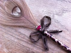 Animal Print Peacock Feather Pen