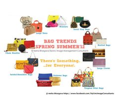 Hello..Yellow Ladies, Join us at https://www.facebook.com/Styl.IncImageConsultants     As promised we get to you Spring/Summer Handbags trends.     The fun part about this years style is that there's one for everyone.     We got down thinking about all age groups and different occasions that you can carry a handbag too, from the smallest to the largest and everything else in between.     Even though the Trends are ours to tell,the choice is entirely yours!.